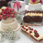 dispaly at wedding fair cakes