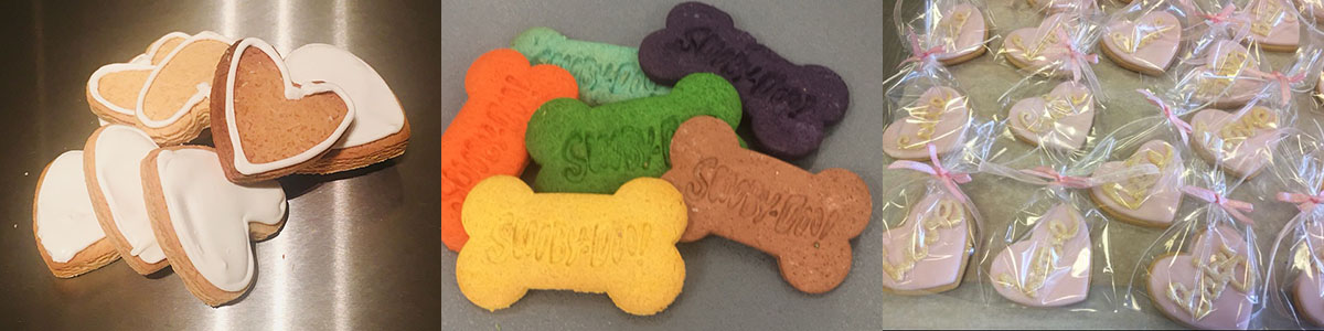 heart shaped and scoobydo biscuits