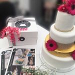 wedding cake and cakebox